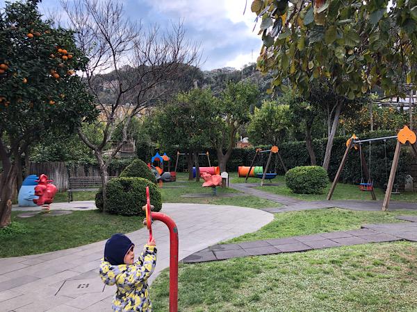 Sorrento parco giochi Villa Fiorentino