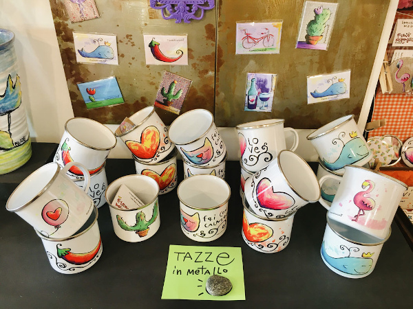 tazze dipinte a mano