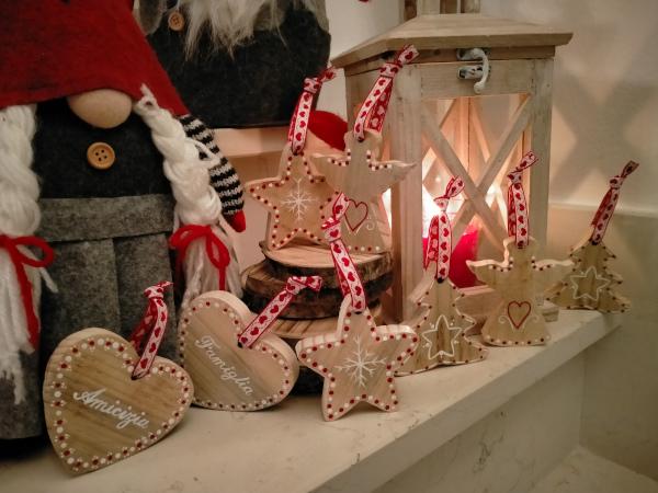creazioni di legno natalizie