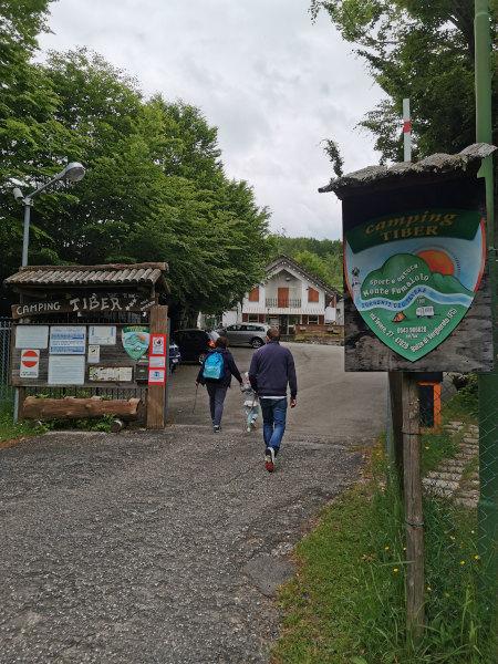 ingresso del campeggio